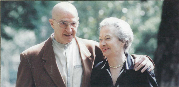 Alfred Tomatis and his wife Lena Tomatis